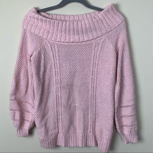 Off the shoulder Pink Sweater